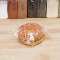 Plastic Lip and Tape Resealable Sandwich Bag 7 inch x 7 inch - 1000/Case