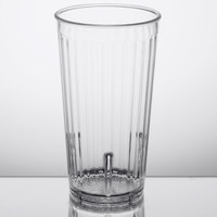 GET 8822-1-CL Spektrum 22 oz. Clear Stackable SAN Customizable Fluted Plastic Tumbler - 72/Case