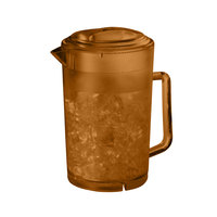 GET LID-3064-1--A Amber Replacement Lid for 64 oz. Textured Pitcher - 12 / Case