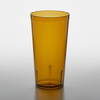 GET 6620-1-A 20 oz. Amber Customizable SAN Plastic Pebbled Tumbler - 72/Case