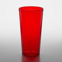 GET 6620-1-R 20 oz. Red Customizable SAN Plastic Pebbled Tumbler - 72/Case
