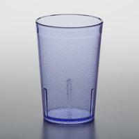 GET 6608-1-BL 8 oz. Blue Customizable SAN Plastic Pebbled Tumbler - 72/Case