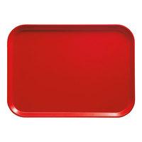Cambro 2632510 10 7/16 inch x 12 3/4 inch (26,5 x 32,5 cm) Rectangular Metric Signal Red Fiberglass Camtray - 12 / Case
