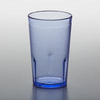 GET 6605-1-BL 5 oz. Blue Customizable SAN Plastic Pebbled Tumbler - 72/Case