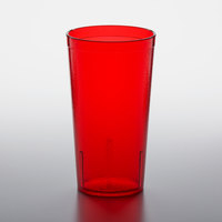 GET 6616-1-R 16 oz. Red Customizable SAN Plastic Pebbled Tumbler - 72/Case