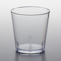 GET 6609-1-CL 9 oz. Clear Customizable SAN Plastic Short Pebbled Tumbler - 72/Case