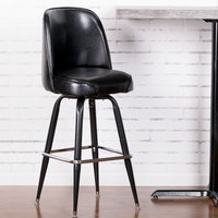 ... Lancaster Table U0026 Seating Deluxe Black Barstool With 19 Inch Wide Bucket  Seat
