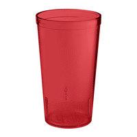 GET 6612-1-6-R 12 oz. Red SAN Plastic Textured Tumbler - 72 / Case