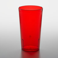 GET 6612-1-R 12 oz. Red SAN Customizable Plastic Textured Tumbler - 72/Case
