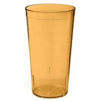 GET 6632-1-4-A 32 oz. Amber SAN Plastic Textured Tumbler - 48 / Case