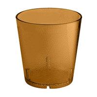 GET 6609-1-6-A 9 oz. Amber SAN Plastic Textured Tumbler - 72 / Case
