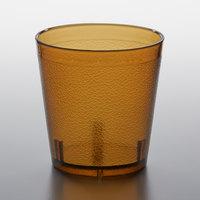 GET 6609-1-A 9 oz. Amber SAN Plastic Short Pebbled Tumbler - 72/Case