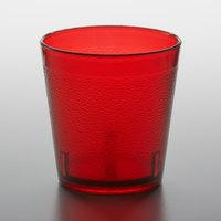 GET 6609-1-6-R 9 oz. Red SAN Plastic Short Pebbled Tumbler - 72/Case
