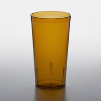 GET 6616-1-A 16 oz. Amber Customizable SAN Plastic Pebbled Tumbler - 72/Case