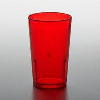 GET 6605-1-R 5 oz. Red Customizable SAN Plastic Pebbled Tumbler - 72/Case