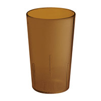 GET 6605-1-6-A 5 oz. Amber SAN Plastic Textured Tumbler - 72 / Case