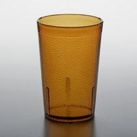 GET 6605-1-A 5 oz. Amber Customizable SAN Plastic Pebbled Tumbler - 72/Case