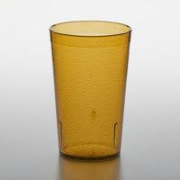 GET 6695-1-A 9.5 oz. Amber Customizable SAN Plastic Pebbled Tumbler - 72/Case