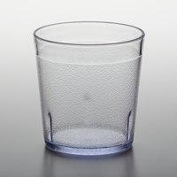 GET 6610-1-6-CL 10 oz. Clear Customizable SAN Plastic Short Pebbled Tumbler - 72/Case