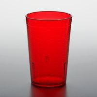 GET 6608-1-R 8 oz. Red Customizable SAN Plastic Pebbled Tumbler - 72/Case