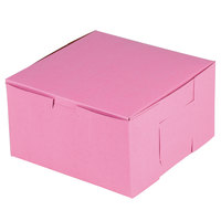 Southern Champion 821 7 inch x 7 inch x 4 inch Pink Cake / Bakery Box - 250/Bundle