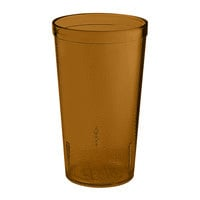 GET 6612-1-6-A 12 oz. Amber SAN Plastic Textured Tumbler - 72 / Case