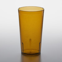 GET 6612-1-A 12 oz. Amber SAN Customizable Plastic Textured Tumbler - 72/Case