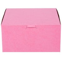 "Southern Champion 841 8"" x 8"" x 4"" Pink Cake / Bakery Box - 250/Bundle"