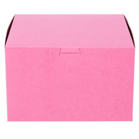 Southern Champion 845 8 inch x 8 inch x 5 inch Pink Cake / Bakery Box - 100/Bundle