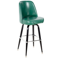 Lancaster Table & Seating Deluxe Green Barstool with 19 inch Wide Bucket Seat