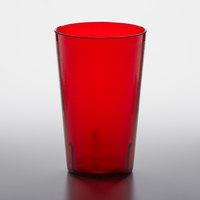 GET 5032-1-R 32 oz. Red Customizable SAN Plastic Pebbled Tumbler - 48/Case