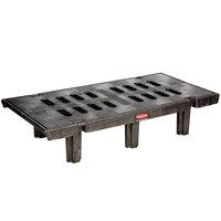 Rubbermaid 4490 24 inch x 48 inch x 12 inch Dunnage Rack (FG449000BLA) - 2000 lb. Capacity