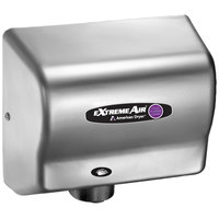 American Dryer CPC9-C ExtremeAir Automatic Hand Dryer and Sanitizer with Steel Satin Chrome Cover - 100/240V, 800-1500W