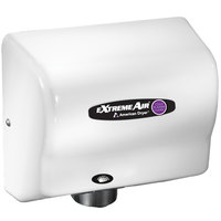 American Dryer CPC9 ExtremeAir Automatic Hand Dryer and Sanitizer with White ABS Cover - 100/240V, 800-1500W