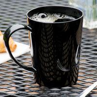 Carlisle 4306803 12 oz. Black Tritan Nesting Mug - 12/Case