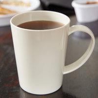 Carlisle 4306842 12 oz. Bone Tritan Nesting Mug - 12/Case