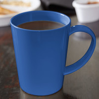 Carlisle 4306814 12 oz. Ocean Blue Tritan Nesting Mug - 12/Case