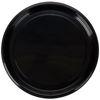 Fineline Platter Pleasers 7610TF PET Plastic Black Thermoform 16 inch Catering Tray - 25/Case