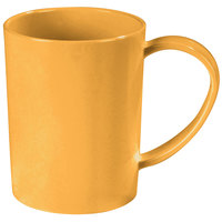 Carlisle 4306622 8 oz. Stackable Honey Yellow Tritan Mug - 12/Case