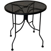 American Tables & Seating ALM36 36 inch Round Top Outdoor Table with Umbrella Hole