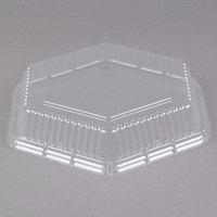 Genpak 94709 Smart-Set 9 inch Clear Dome Hexagonal Lid - 200/Case