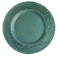 The Jay Companies 12 3/4 inch Round Arizona Blue Glass Charger Plate