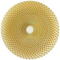 The Jay Companies 12 3/4 inch Round Edge Gold Glass Charger Plate