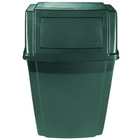 Rubbermaid 1829403 Slim Jim Green Wall Mounted Trash Container 15 Gallon (1829402)