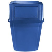 Rubbermaid 1829401 Slim Jim Blue 15 Gallon Wall Mounted Trash Container