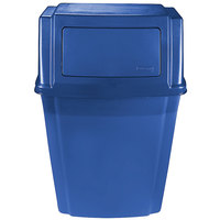Rubbermaid 1829401 Slim Jim Blue 15 Gallon Wall Mounted Trash Container (1829401)