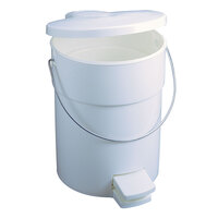 Rubbermaid FG614200 White Round Plastic Step-On Can with Rigid Liner 4.5 Gallon (FG614200WHT)