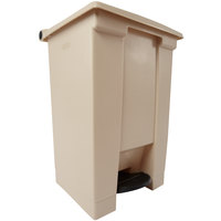 Rubbermaid FG614400BEIG Beige Rectangular Plastic Step-On Container 12 Gallon