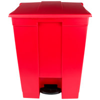 Rubbermaid FG614500RED 18 Gallon Red Rectangular Step-On Trash Can
