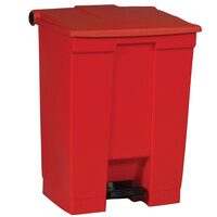 Rubbermaid FG614500 Red Rectangular Plastic Step-On Container 18 Gallon (FG614500RED)
